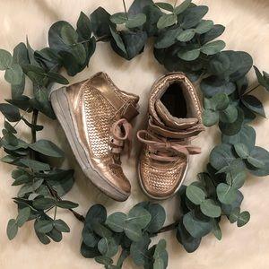 Stella McCartney Girls Rose Gold 'Darby' Sneakers